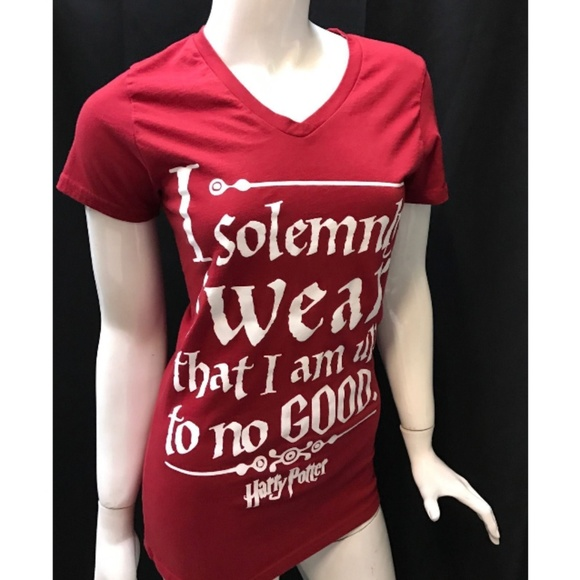 507267360 Harry Potter Shirts & Tops | Womens Red Tshirt Solemnly Swear L ...